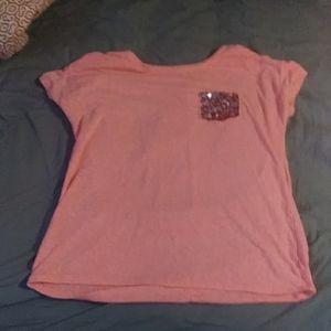 orange/pink girl's t-shirt